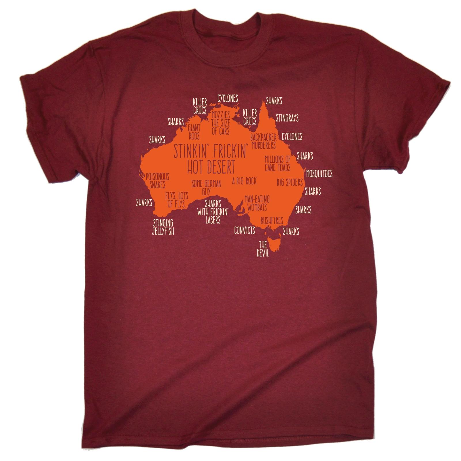 Australia explained mens t shirt funny birthday gift for Men s shirt sizes explained