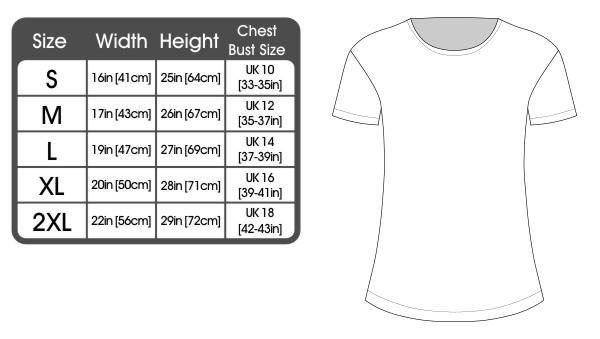 women's t shirt sizes uk